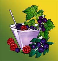 Beispiel - Kinder müssen Ihren Smoothie selber machen und zwar vom ganz vorne; Beeren oder Früchte selber holen - logo unter Aufsicht ... keine Sorge!